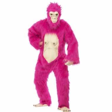 Neon roze gorilla pakkencarnavalskleding