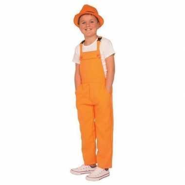 Oranje verkleed overall voor kinderen carnavalskleding