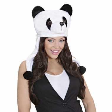 Panda beer feestmuts voor volwassenencarnavalskleding