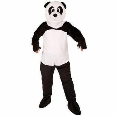 Panda beer kostuum met mega pluche maskercarnavalskleding