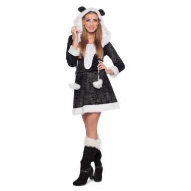 Panda dieren verkleedkleding voor damescarnavalskleding
