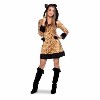 Panter dieren verkleedkleding voor damescarnavalskleding