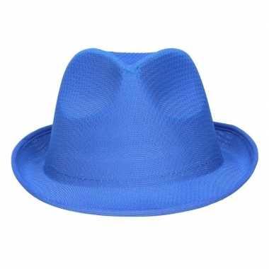 Party hoedje blauw voor volwassenencarnavalskleding