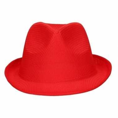 Party hoedje rood voor volwassenencarnavalskleding