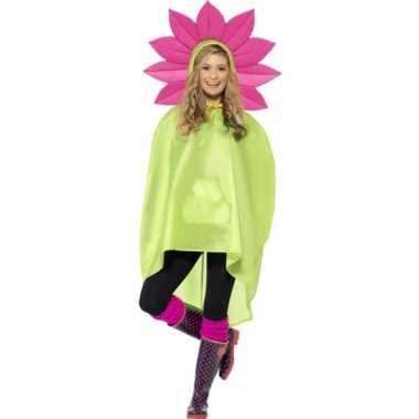 Party poncho bloem carnavalskleding