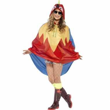 Party poncho papegaai carnavalskleding