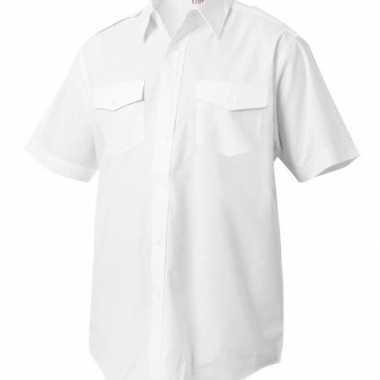 Piloten shirt met korte mouwencarnavalskleding