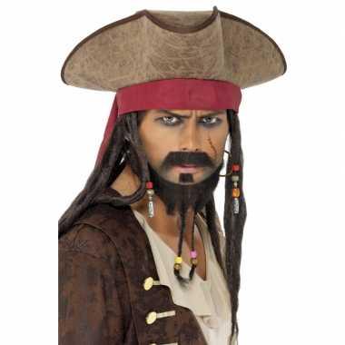 Piraten hoeden jack sparrowcarnavalskleding