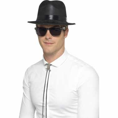 Plastic gangster hoed van plasticcarnavalskleding