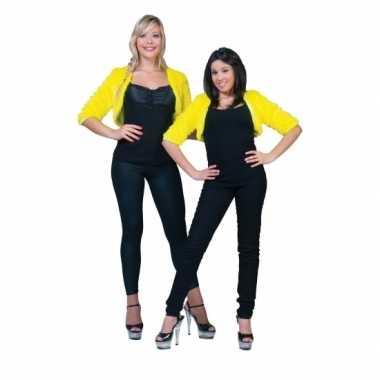 Pluche geel jasje voor damescarnavalskleding