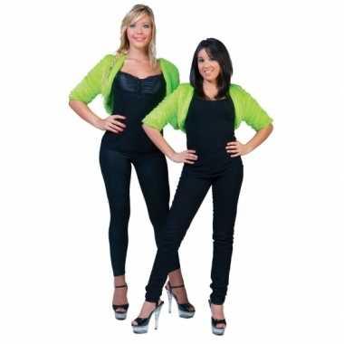 Pluche groen jasje voor damescarnavalskleding