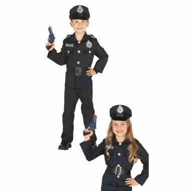 Politie agent verkleed kostuum voor jongens/meisjes carnavalskleding