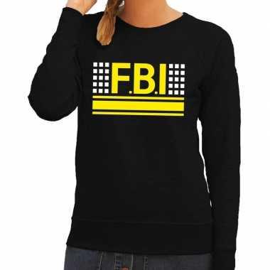 Politie fbi logo sweater zwart voor damescarnavalskleding