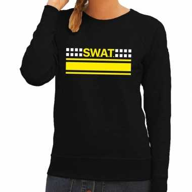 Politie swat team logo sweater zwart voor damescarnavalskleding