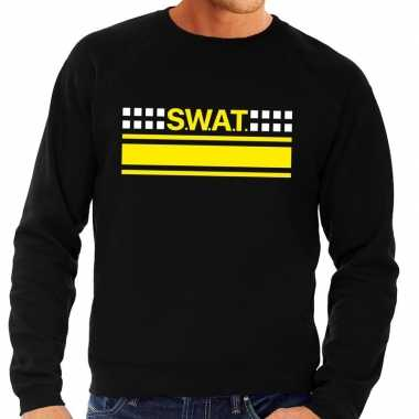 Politie swat team logo sweater zwart voor herencarnavalskleding