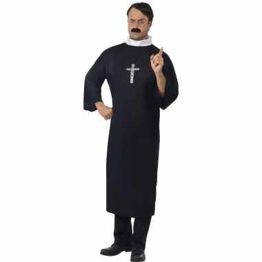 Priester kostuum met ketting voor herencarnavalskleding