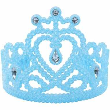 Prinsessen tiara in het blauwcarnavalskleding