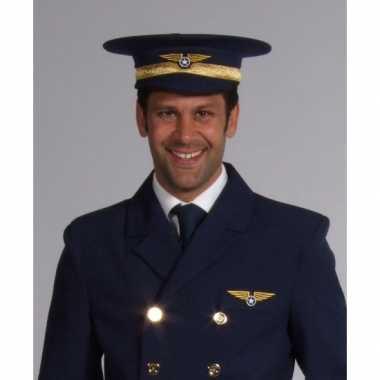 Proffessionele piloten hoed carnavalskleding