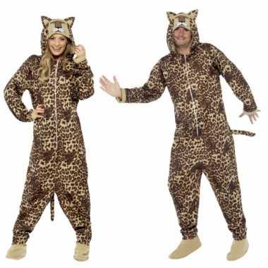 Pyamapak luipaard voor dames en herencarnavalskleding