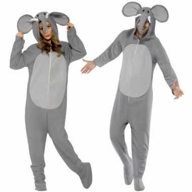 Pyamapak olifant voor dames en heren carnavalskleding