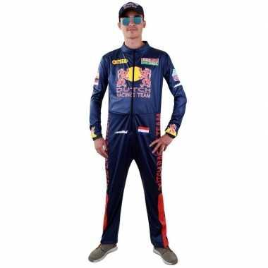 Race coureur verkleed kostuum voor herencarnavalskleding