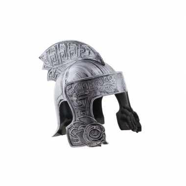 Ridder helm zilver voor volwassenencarnavalskleding