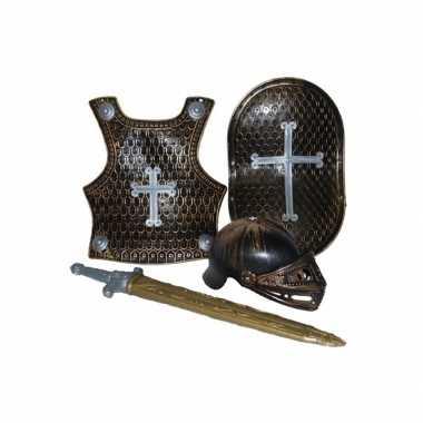 Ridder verkleed set brons 4-deligcarnavalskleding