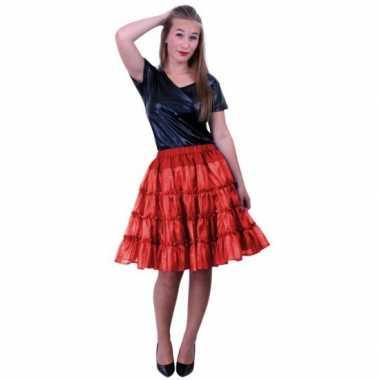Rode 5-laags petticoat voor damescarnavalskleding