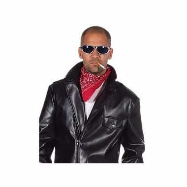 Rode biker bandana met printcarnavalskleding