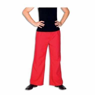 Rode broek voor heren carnavalskleding