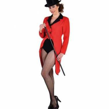 Rode dames slipjascarnavalskleding