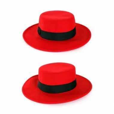 Rode spanjaard hoedcarnavalskleding