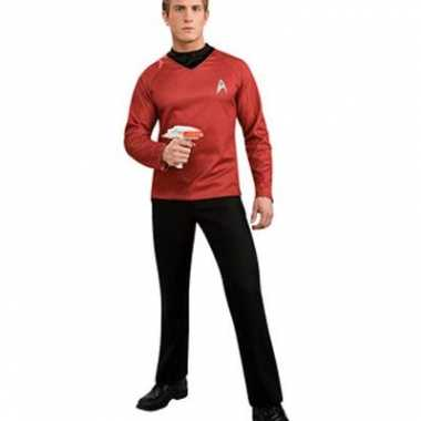 Rode star trek shirtscarnavalskleding