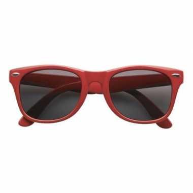 Rode toppers verkleedaccessoire bril voor volwassenencarnavalskleding