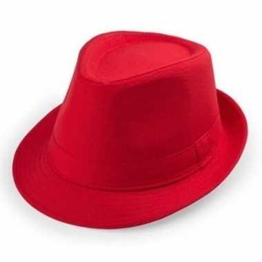 Rode trilby hoedjes voor volwassenencarnavalskleding