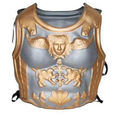 Romeinen harnas zilver/goudcarnavalskleding