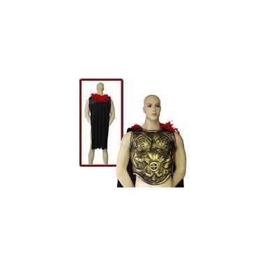 Romeins schild in het goudcarnavalskleding
