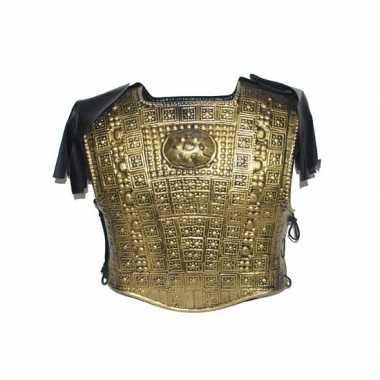 Romeins torso in het goudcarnavalskleding