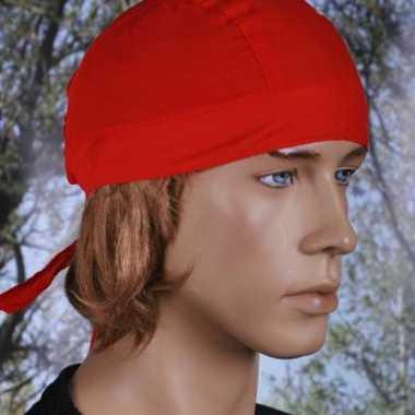 Rood gekleurde bandana uni 1carnavalskleding