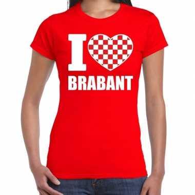 Rood i love brabant t-shirt damescarnavalskleding