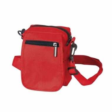 Rood schoudertasje van polyester 15 cmcarnavalskleding