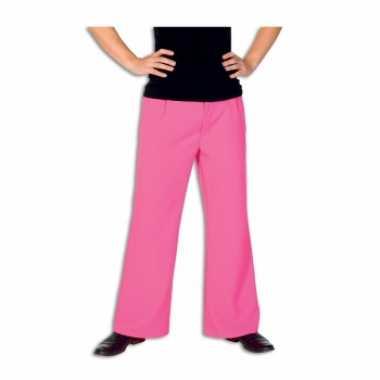 Roze broek voor herencarnavalskleding