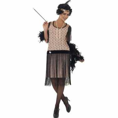 Roze jaren 20 flapper jurk voor damescarnavalskleding