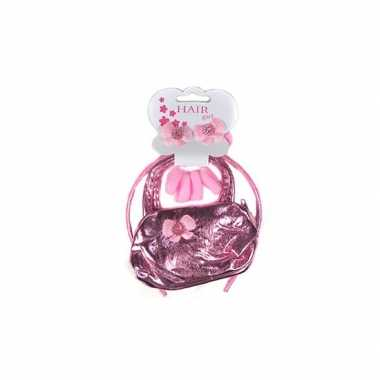 Roze meisjes accessoires setcarnavalskleding