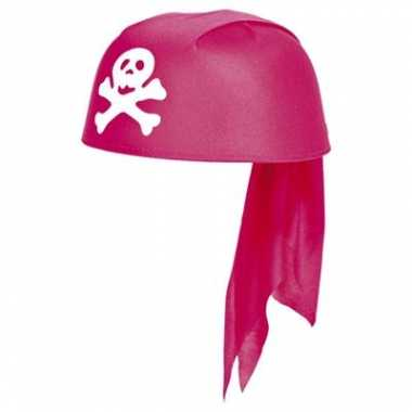 Roze piraten hoed voor meidencarnavalskleding