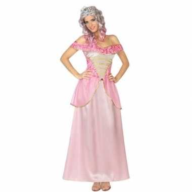 Roze prinsessen verkleed jurk voor damescarnavalskleding