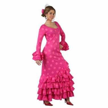 Roze spaanse jurkencarnavalskleding