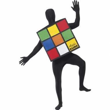 Rubiks kubus verkleed kostuumcarnavalskleding