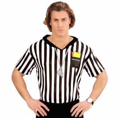 Scheidsrechter verkleed shirt voor herencarnavalskleding