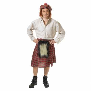 Schots kostuum met rok en hoed voor heren carnavalskleding